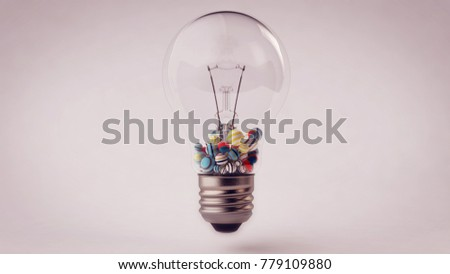 Impressive 3 D Illustration Transparent Glass Ligh Stock ...