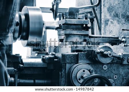 An industrial background. Machine, mechanism. - stock photo