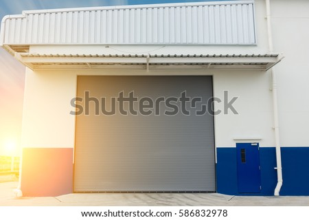 An industrial design for shutter door Warehouse shutter door Entrance of storage warehouse. & Shutter Lock Stock Images Royalty-Free Images \u0026 Vectors ... Pezcame.Com