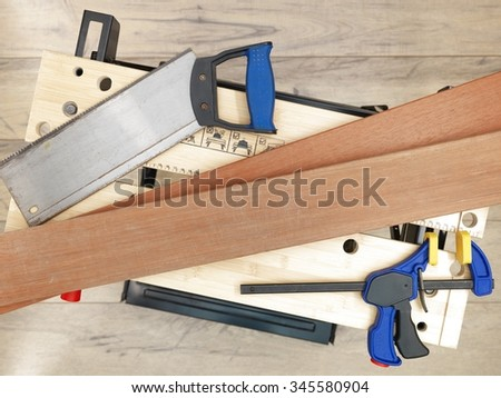 An industrial work bench - stock photo