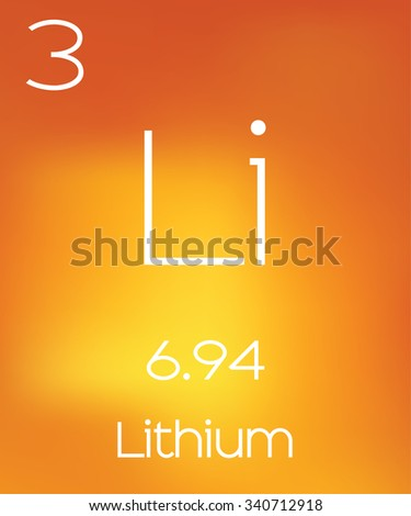 An Informative Illustration of the Periodic Element - Lithium - stock photo