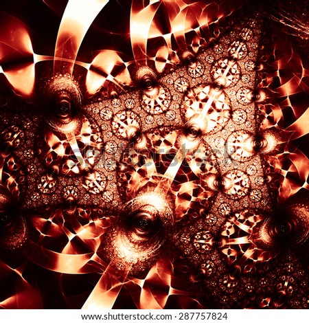 An interesting pattern with a structure similar to the inlay. Unusual abstraction. - stock photo