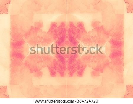 An interesting unusual geometric abstract background with a joyous and festive mood. The mood of spring, blooming, harmony and joy. Texture with pearl highlights in shades of pink quartz  - stock photo