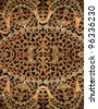 An intricate Sundanese tribal wooden floral carving decorative panel for textural background. - stock photo