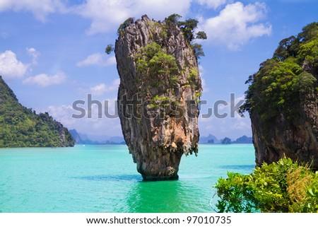 An island in Thailand - stock photo