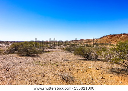 An isolated area of the Pilbara in outback Western Australia.