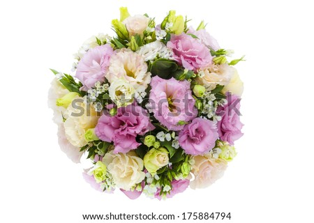 An isolated bouquet of flowers