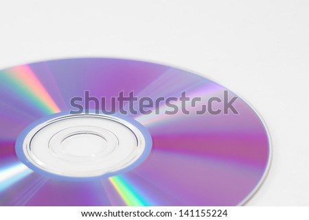 An isolated CD/DVD - stock photo