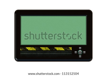 An isolated Pager on white background - stock photo