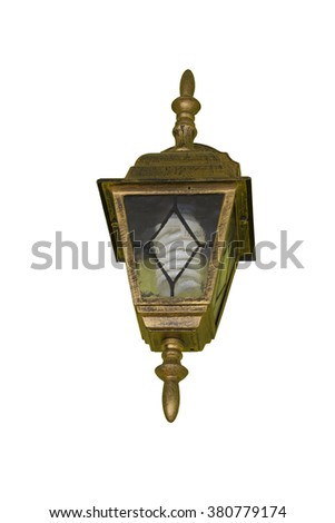 An isolated photo of an  lantern - stock photo