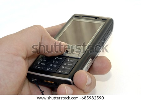 an isolated shot of a mobile cellphone