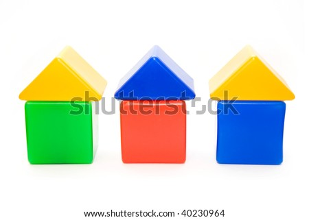 An isolated small house series on white background