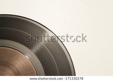 an isolated vinyl record - stock photo