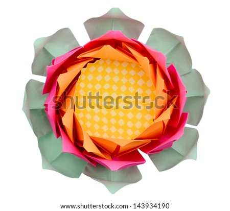 An lotus paper isolated white - stock photo