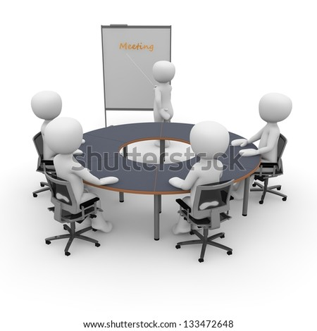 An office space situation for presentation, teamwork and collaboration