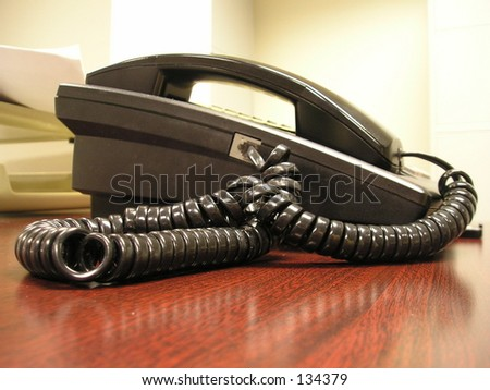 An office telephone