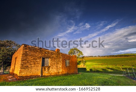 An old abandoned house in the Clare Valley, South Australia - stock photo