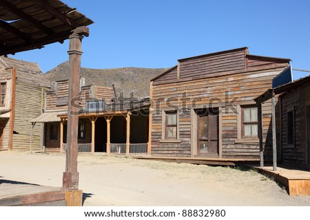 An old American western style town - stock photo