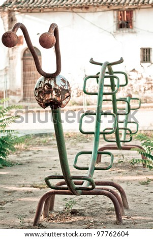 An old and rusty park - stock photo