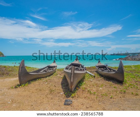An old boat on beach