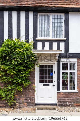 An old brick and wood house seen in Rye, Kent, UK - stock photo