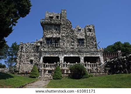 An old castle located in Connecticut. - stock photo