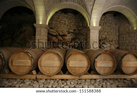 An old cellar of a traditional wine producer