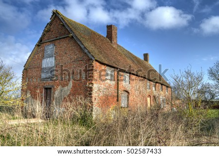 An Old Derelict Farm Building In The English Countryside