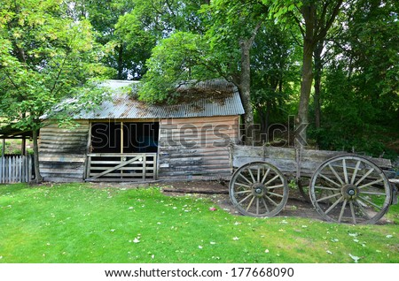An old deserted farm in the south island, New Zealand - stock photo