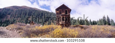 An old dilapidated building - stock photo