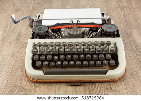 An old dusty type writer