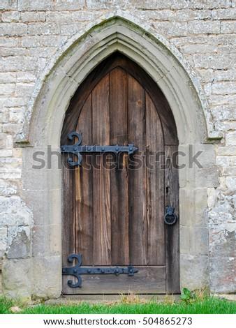 an old english church door & Old English Church Door Stock Photo 504865273 - Shutterstock