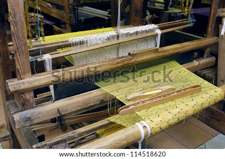 An old fashioned loom - stock photo