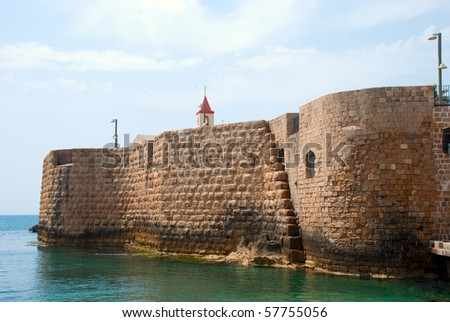 An old fortress of Akko, Israel, Middle East - stock photo