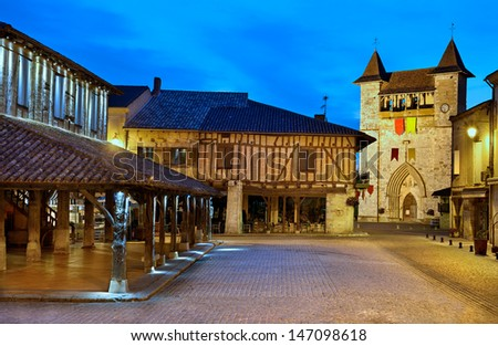 an old French traditional village, Villereal