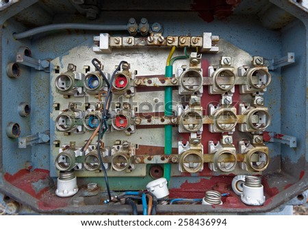 stock images similar to id 16663240 fuse box in an abandoned