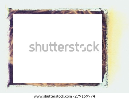 An old grungy transfer border can be used for any type of art and photo outline. It adds texture and character to any project. - stock photo