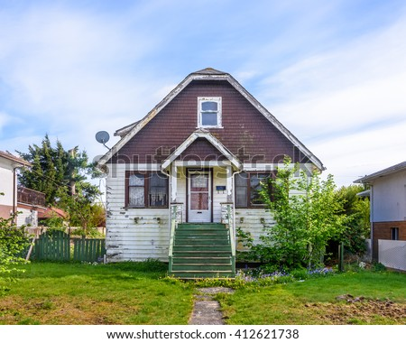 An Old House in Disrepair - stock photo