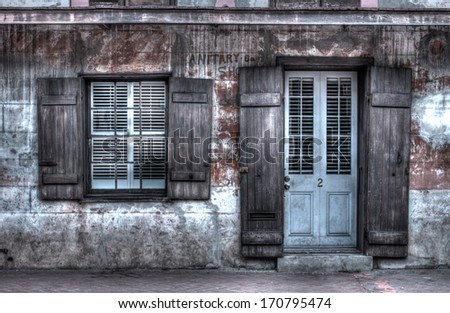 an old house in the French quarter of New Orleans - stock photo