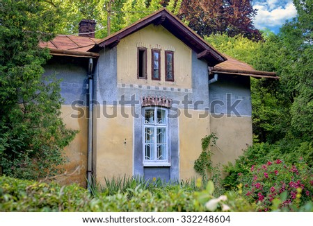 An old house with a garden
