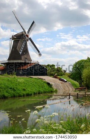 An old mill near the city of Deventer (Overijssel, The Netherlands)