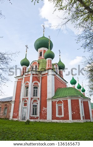 An old orthodox church in a small Russian town
