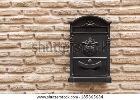 An old postbox in Sepulveda, Segovia - stock photo