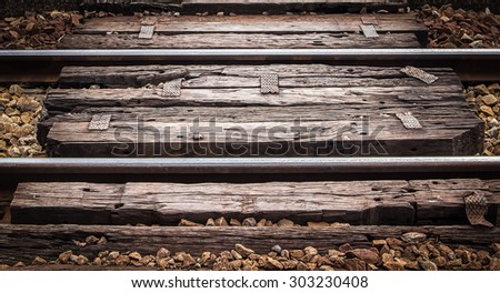 An old railroad - stock photo