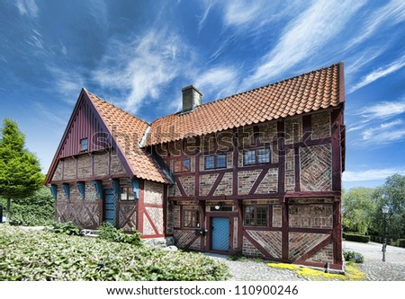An old style house situated in the swedish town of Ystad