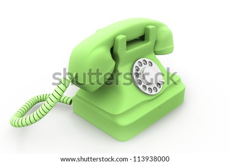 an old telephon - stock photo