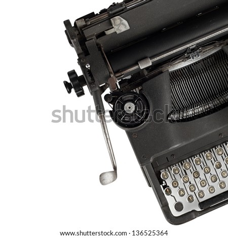 an old typewriter - stock photo