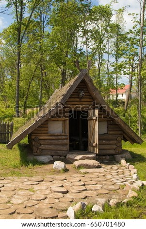 Delicieux An Old Viking House, A Small Wooden Hut, Interior Details