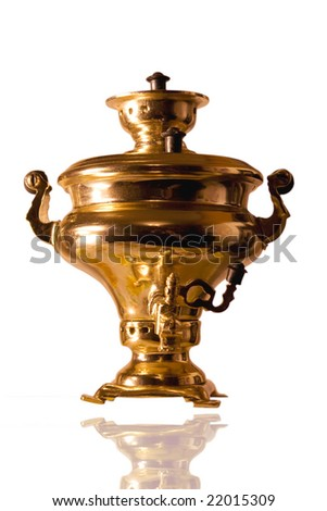 An old vintage bronze samovar