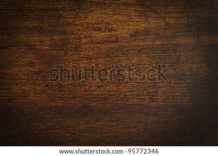 an old vintage dark wooden block texture - stock photo